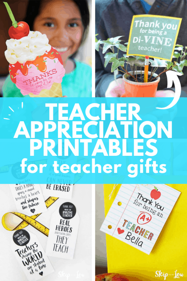 teacher appreciation gift printables PIN