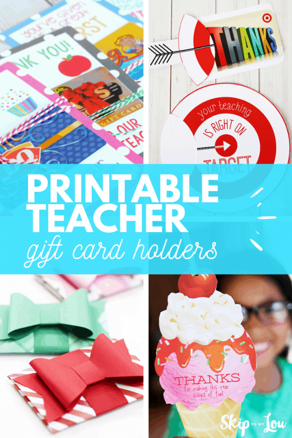 teacher gift card holder printable PIN