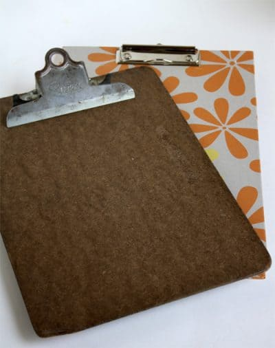 clipboard and paper
