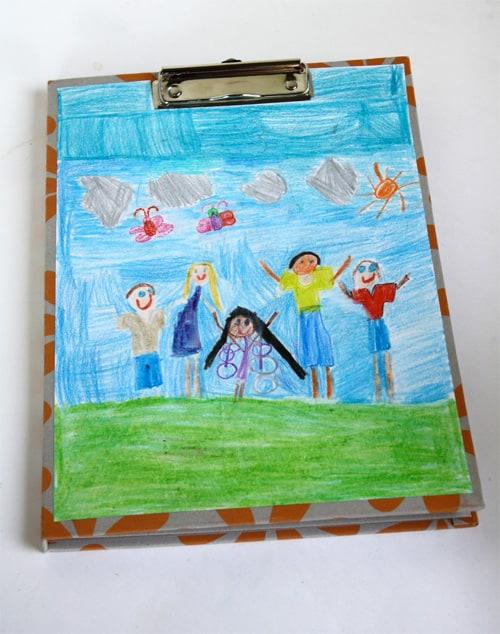 Embellished Clipboard with childs artwork