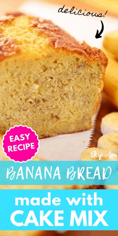 banana bread recipe with cake mix PIN