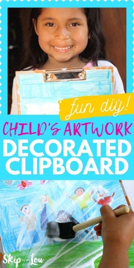 decorated clipboard diy PIN