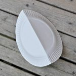 Folded paper plate