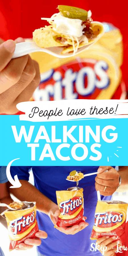 walking tacos easy recipe PIN