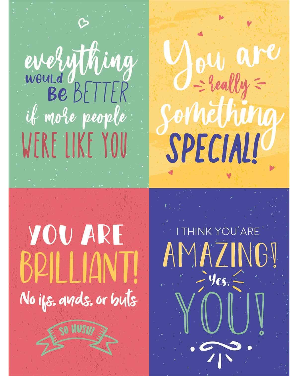 four encouraging postcards