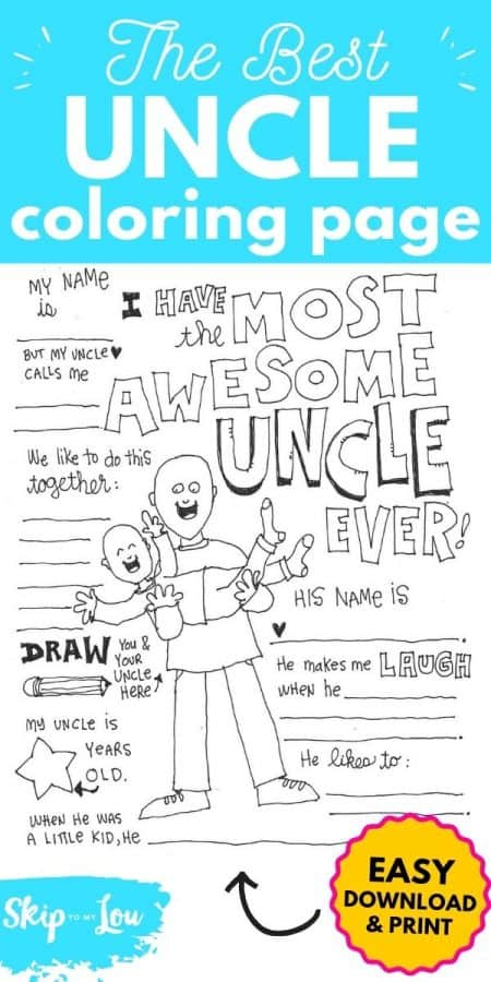 best uncle coloring page PIN