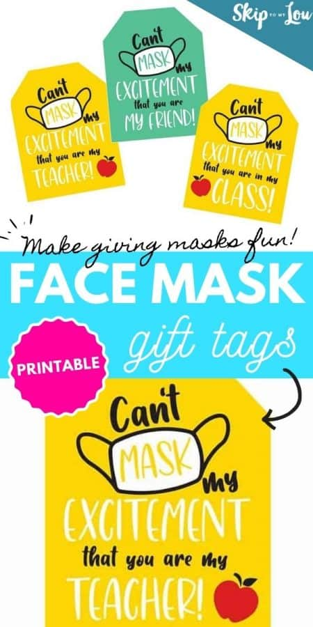 face mask gift tags PIN
