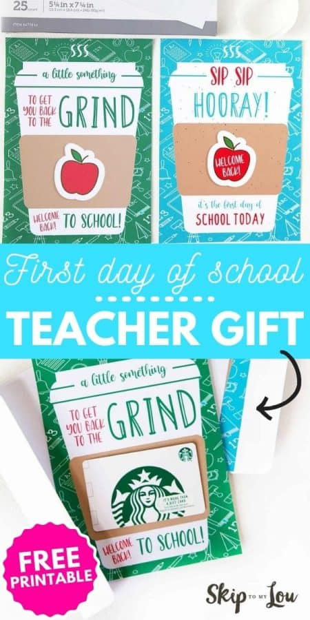 first day of school teacher gift PIN