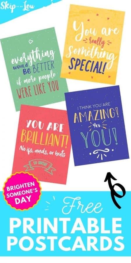 free printable postcards PIN