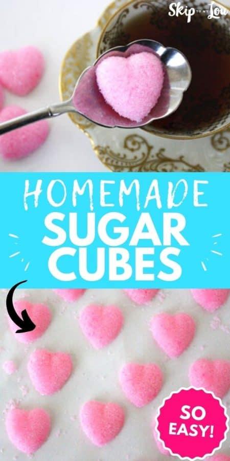 homemade sugar cubes recipe PIN