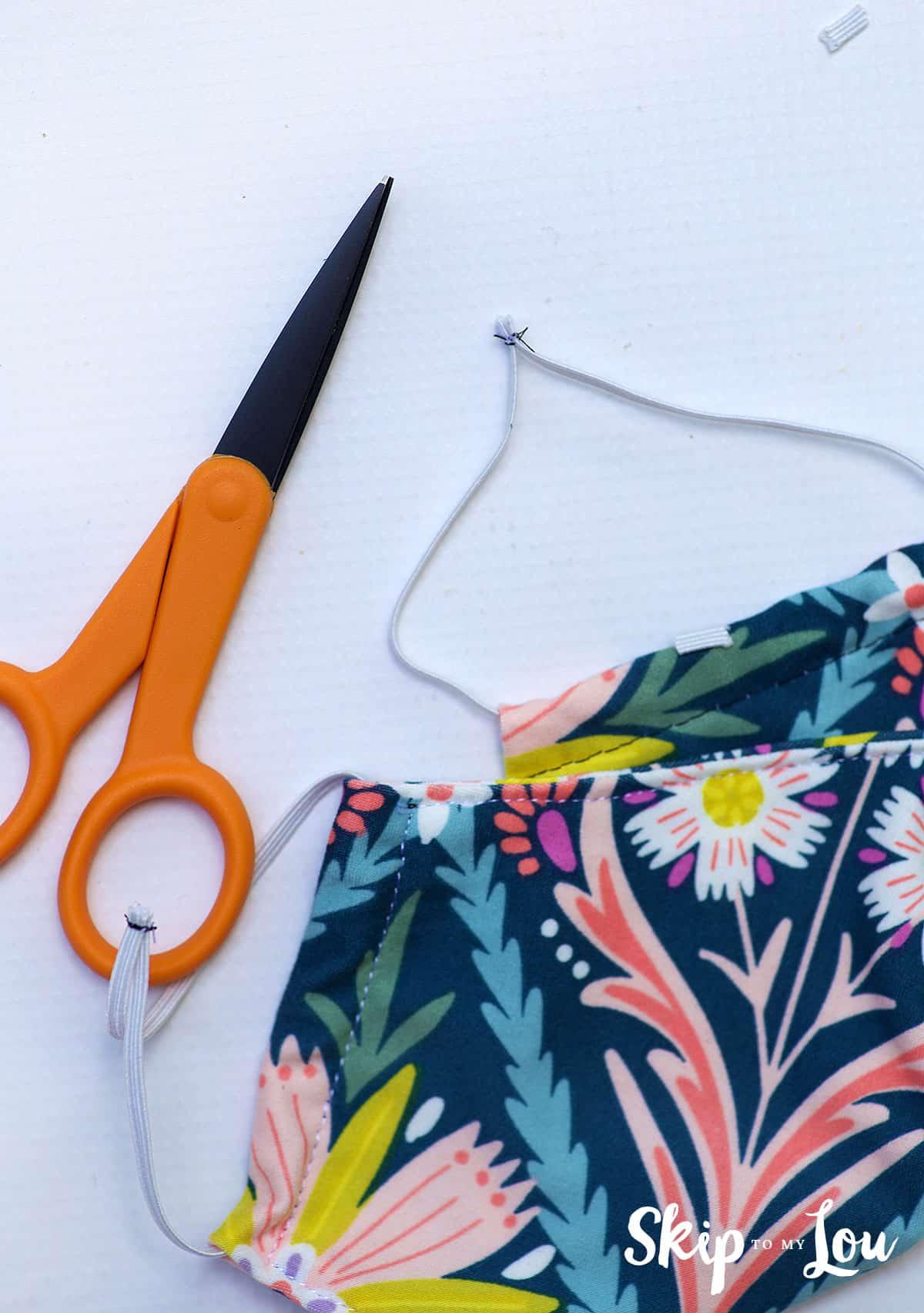 scissors trim elastic ends