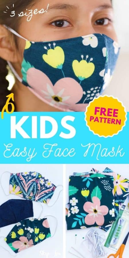 easy kids face mask PIN