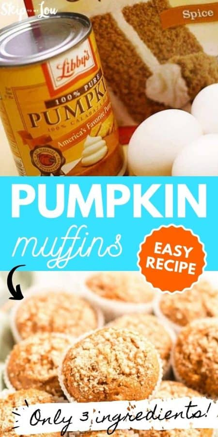 easy pumpkin muffins recipe PIN
