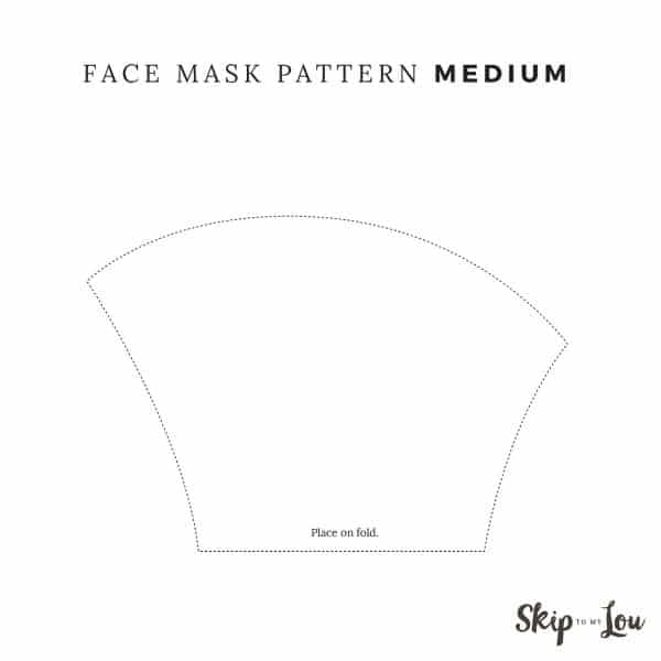 medium pattern place on fold of fabric
