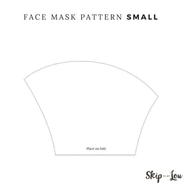 small face mask pattern place on fold