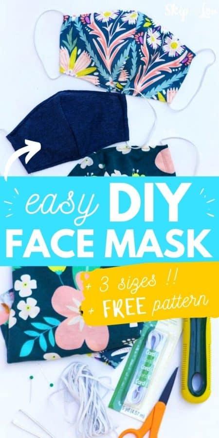 free pattern diy face mask DIY