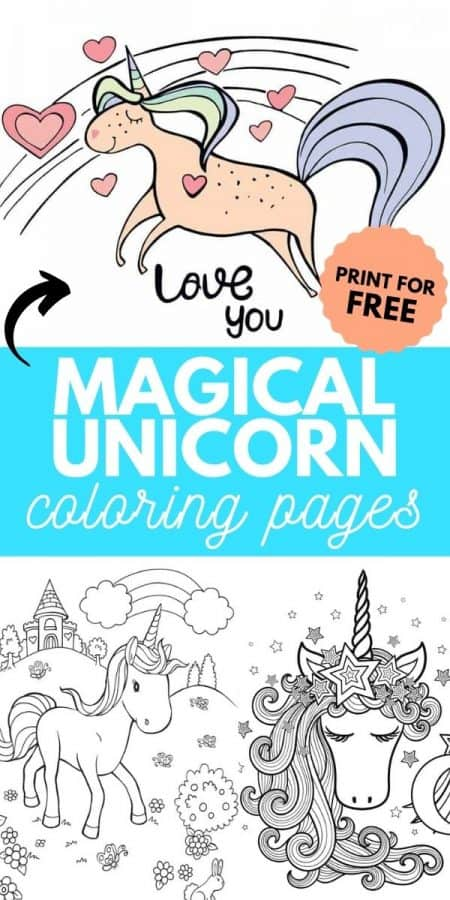 unicorn coloring pages PIN