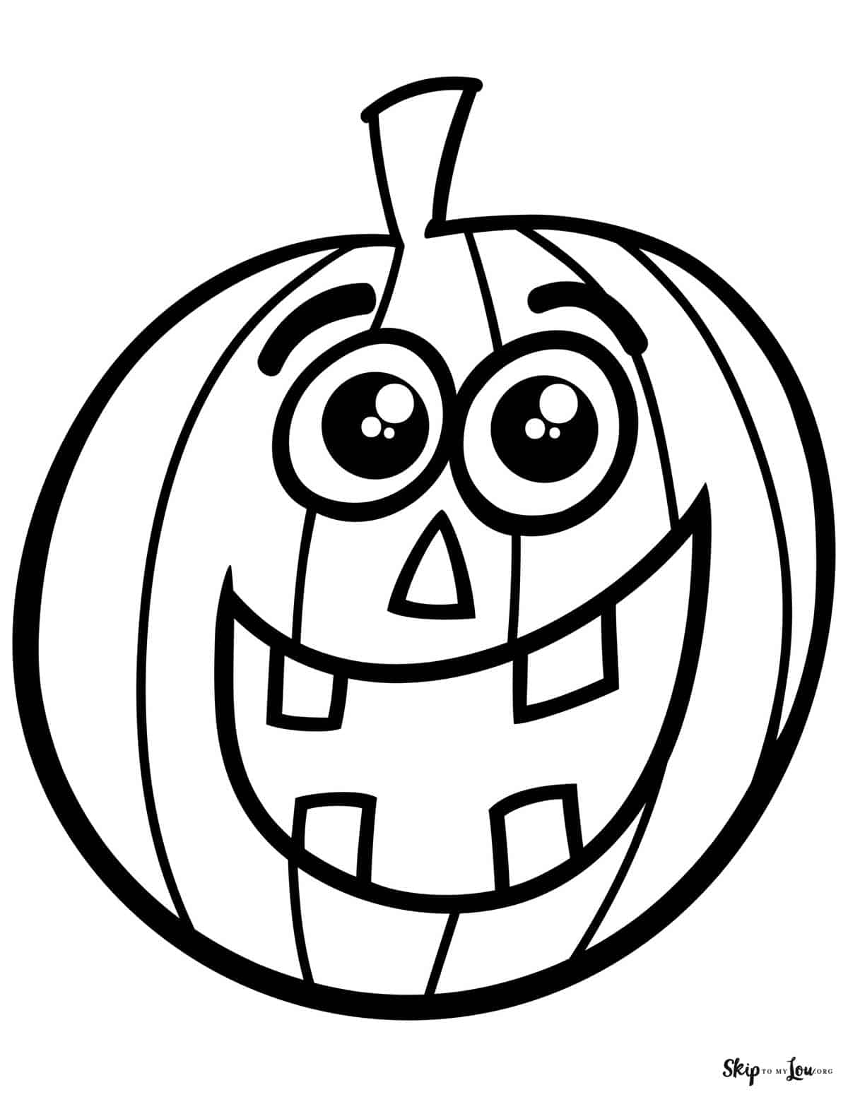 happy cartoon jack o lantern