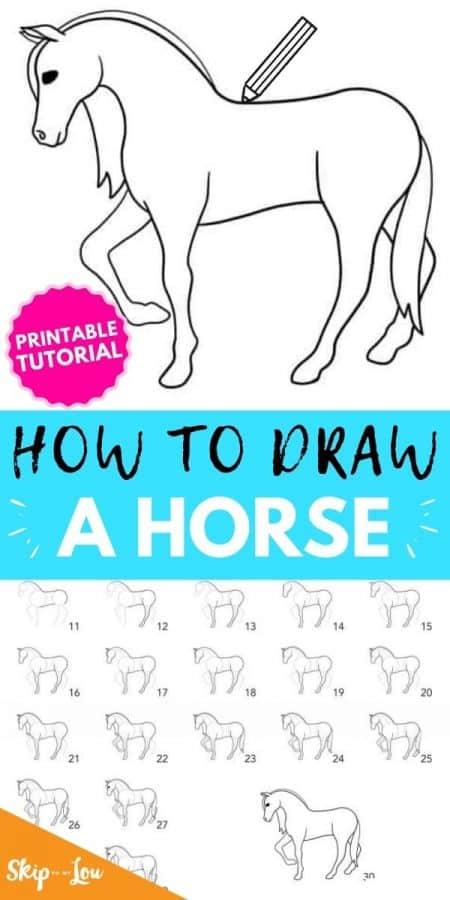how to draw a horse PIN