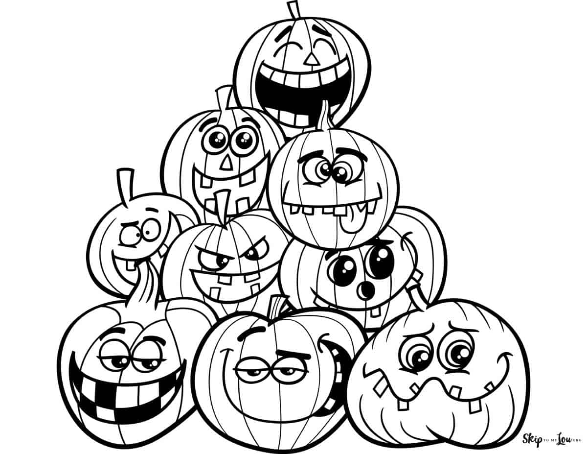 stacked silly pumpkins