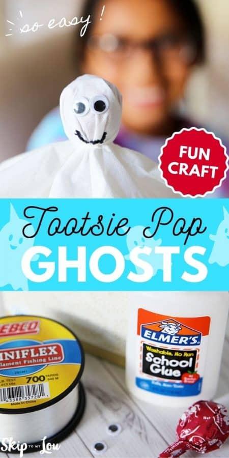 tootsie pop ghosts craft PIN