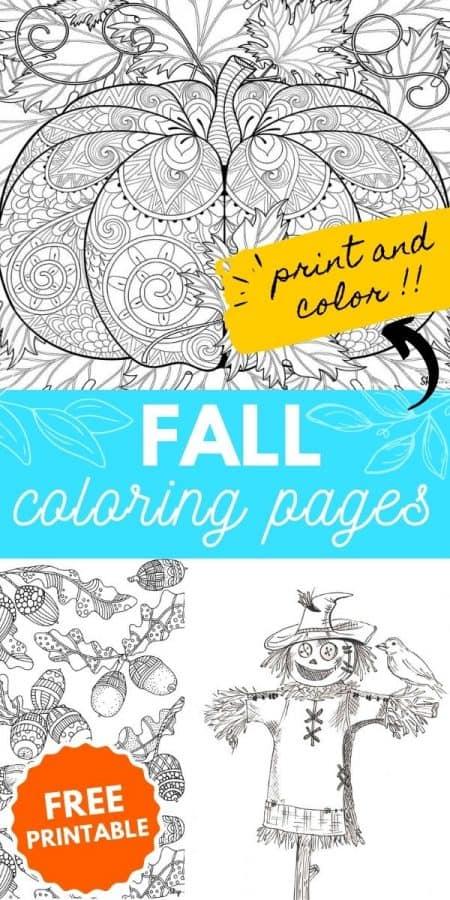 fall coloring page PIN