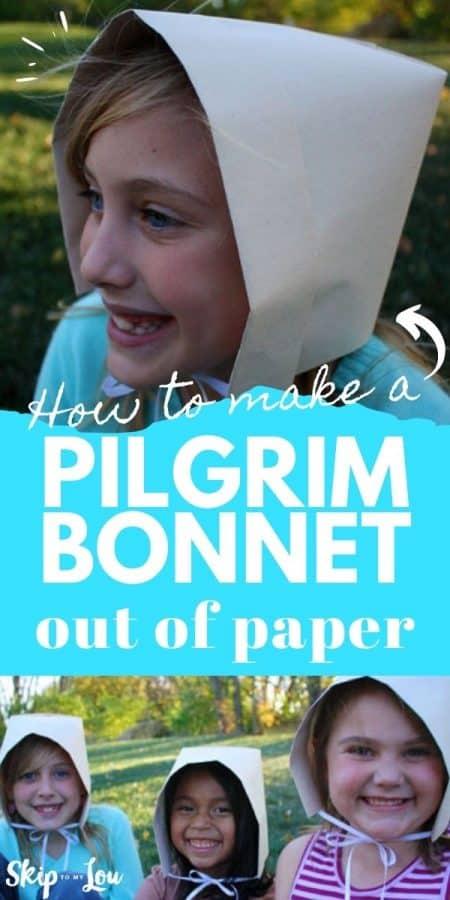 paper pilgrim bonnet diy PIN