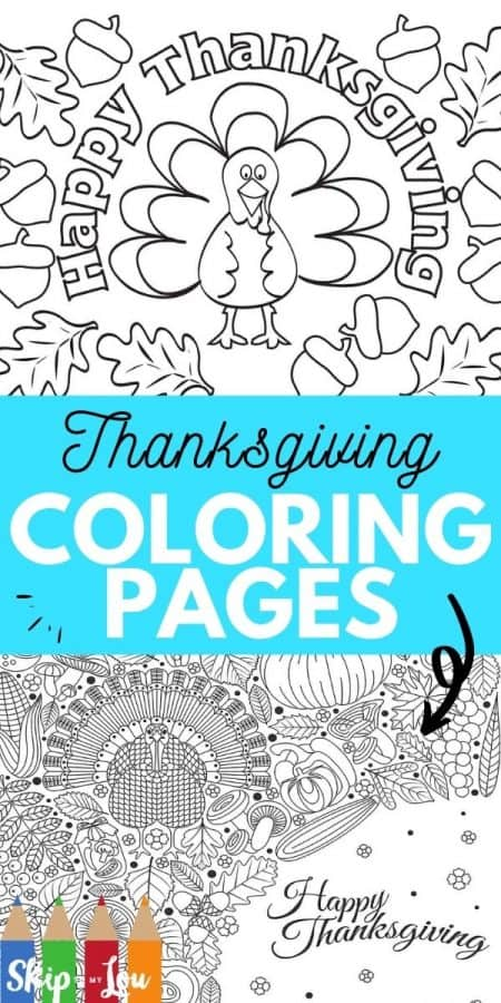 thanksgiving coloring pages PIN