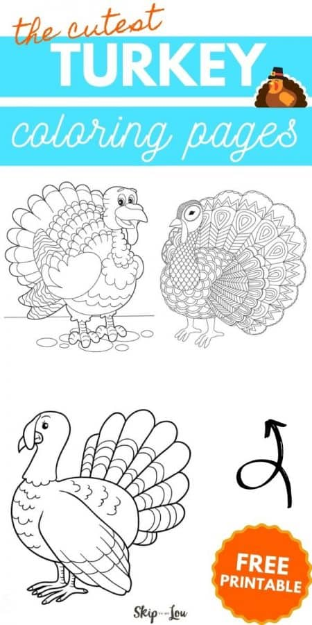 turkey coloring pages PIN
