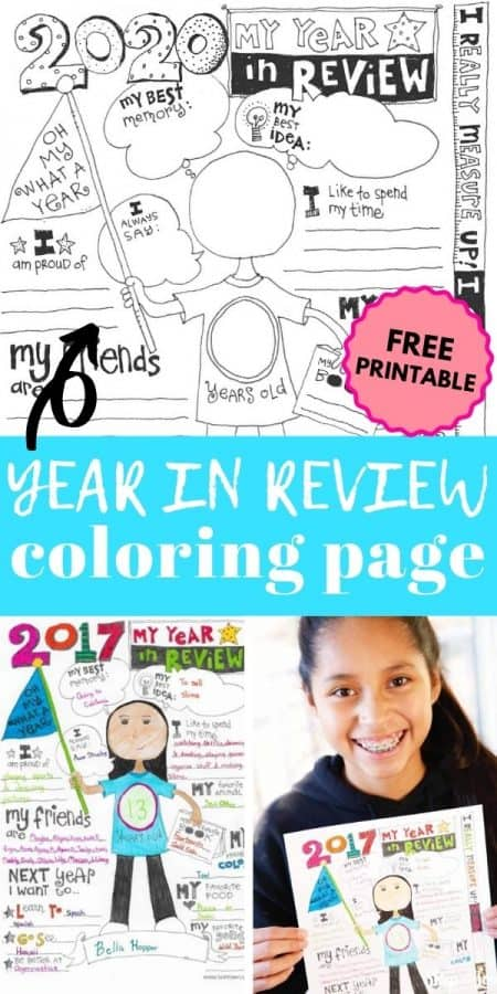 year in review coloring page PIN