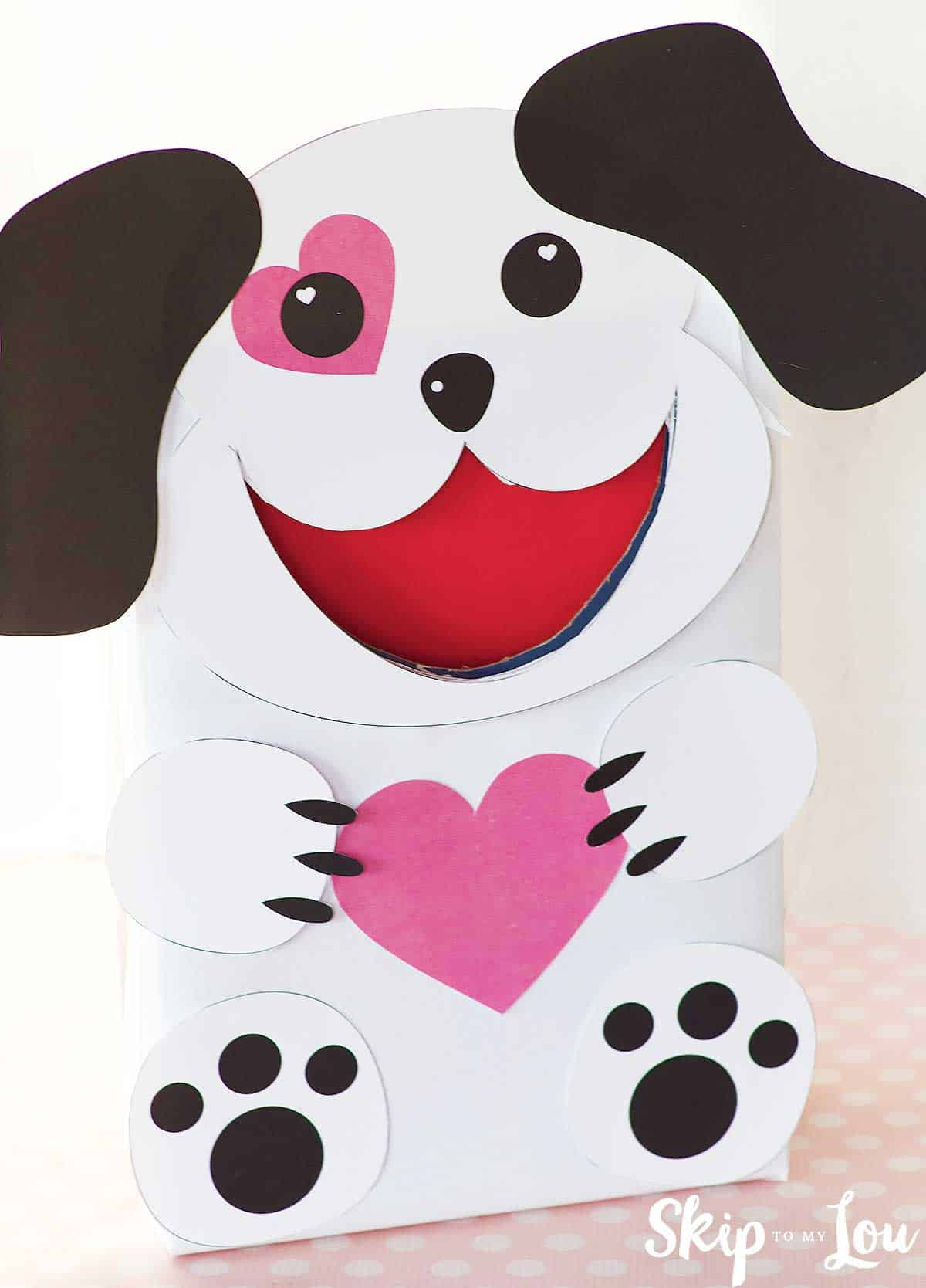 puppy dog valentine box for cards