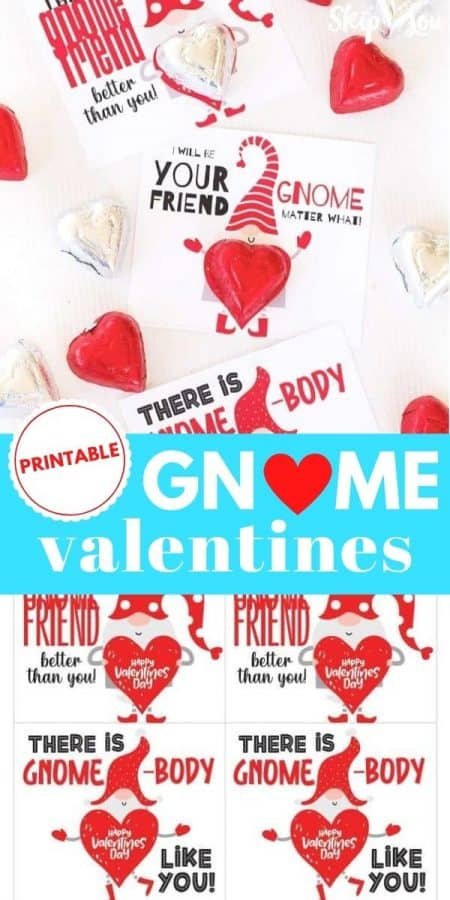 gnome valentines printable PIN