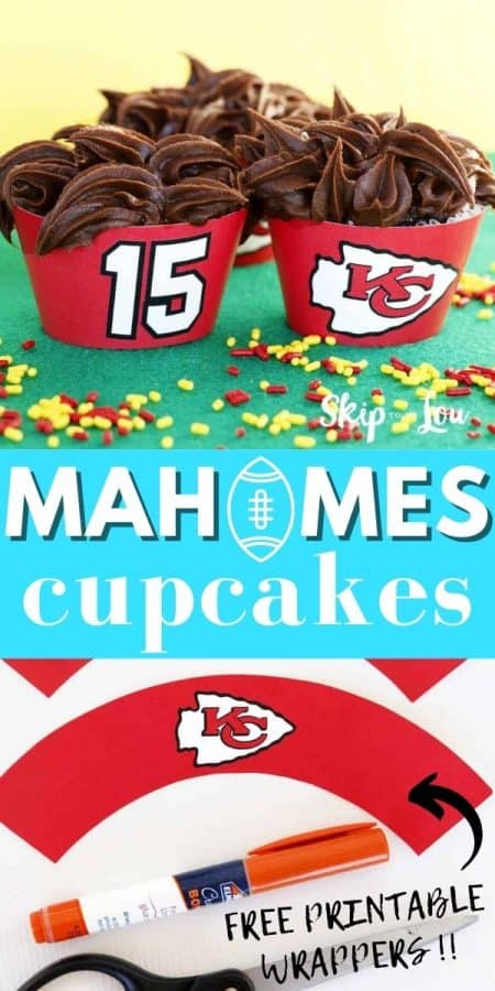 mahomes cupcakes printable wrappers PIN
