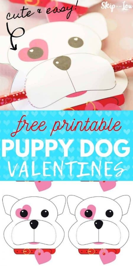 printable puppy dog valentines PIN