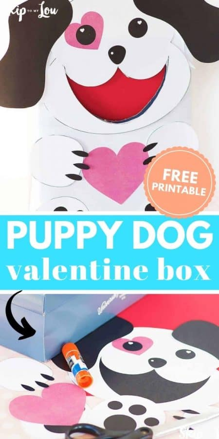 puppy dog printable valentine box PIN