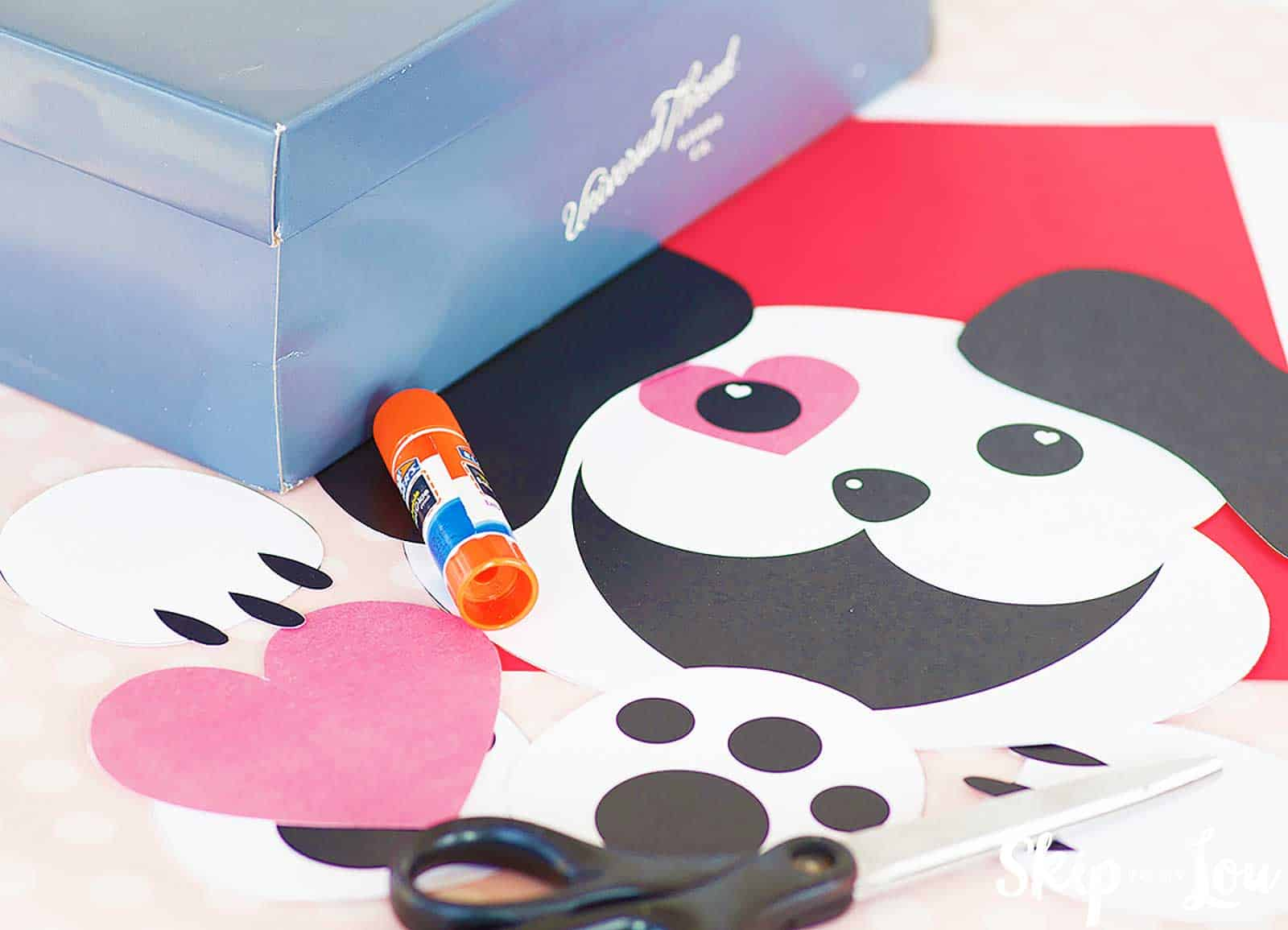 puppy printables with shoebox