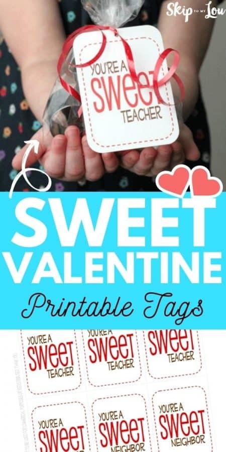sweet valentine printable tags PIN