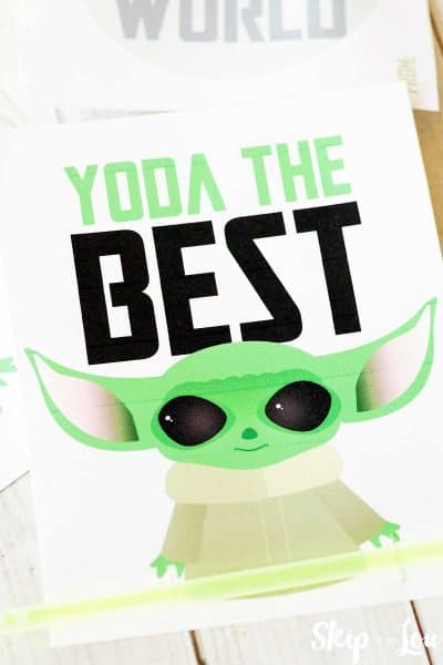 yoda best valentine with glow stick bracelet across the bottom