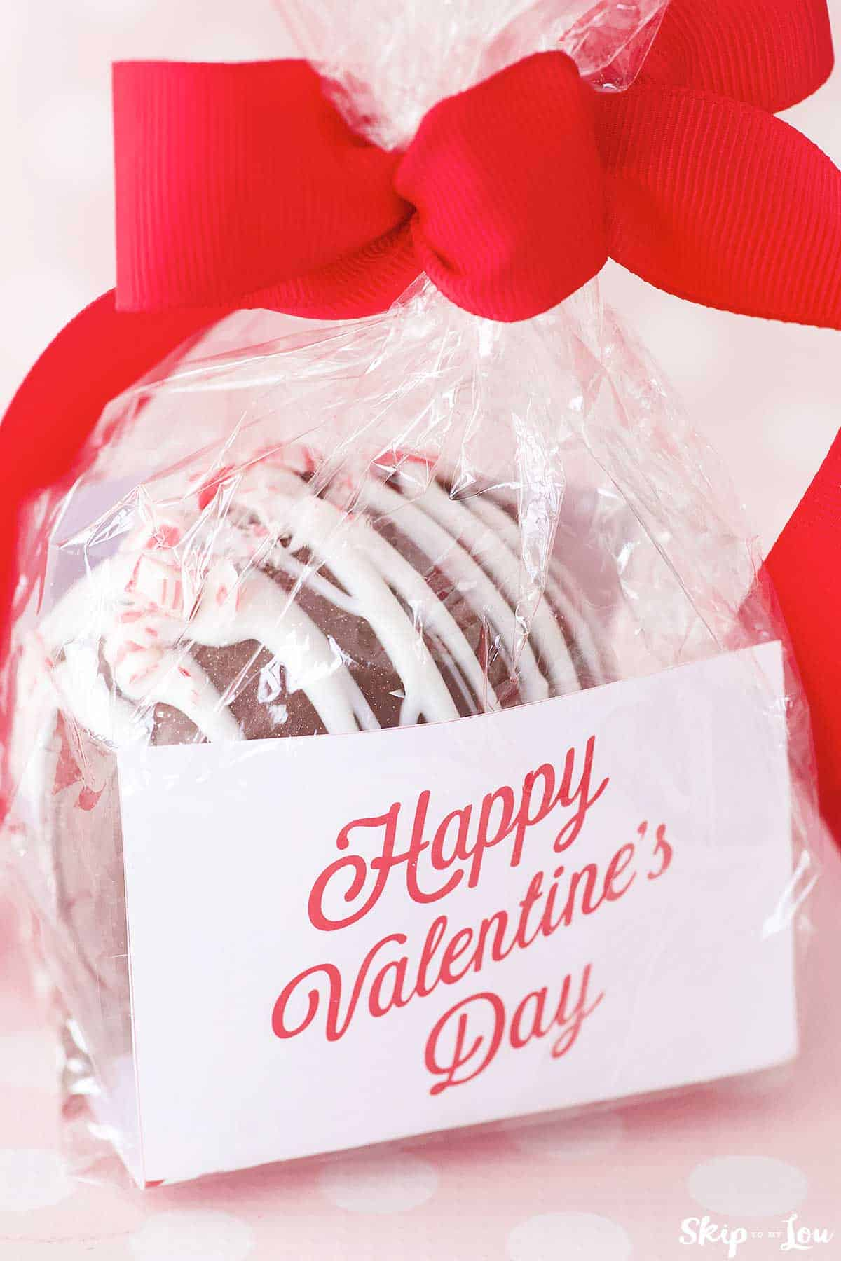 happy valentines day coco bomb in packaging