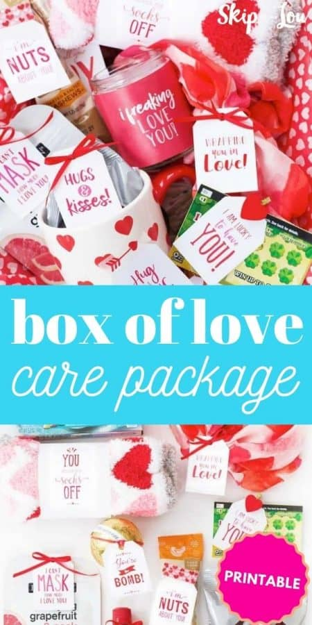 box of love care package PIN