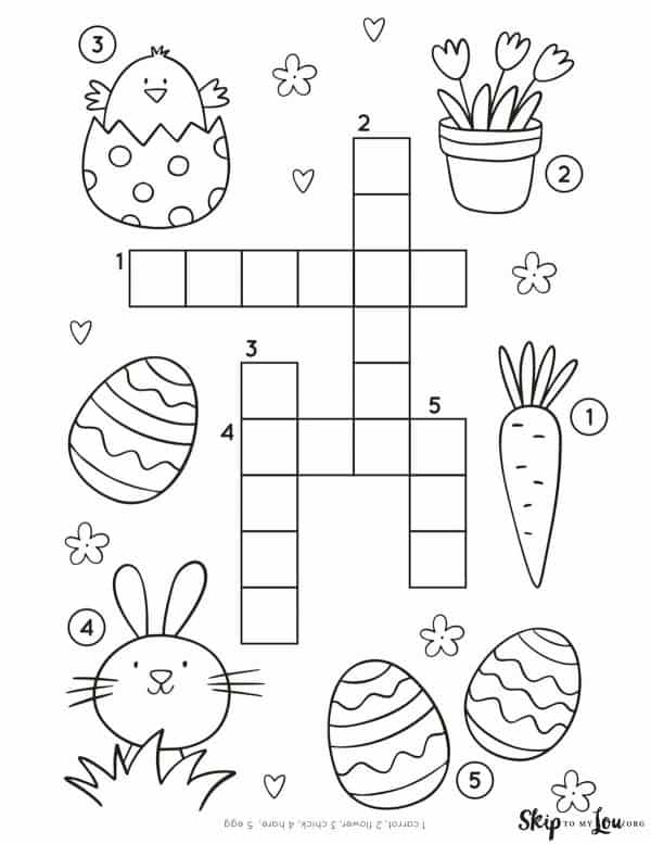 Easter crossword puzzle