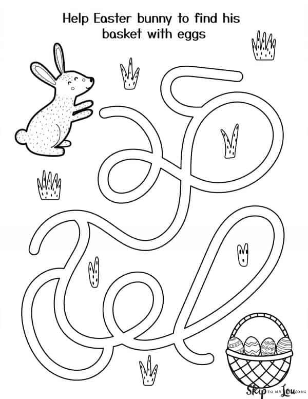 bunny find a basket maze