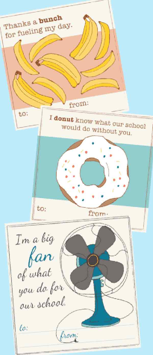 printable thank you cards for teaching support staff