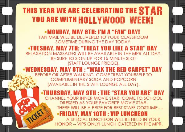 list of ideas for teacher appreciation week