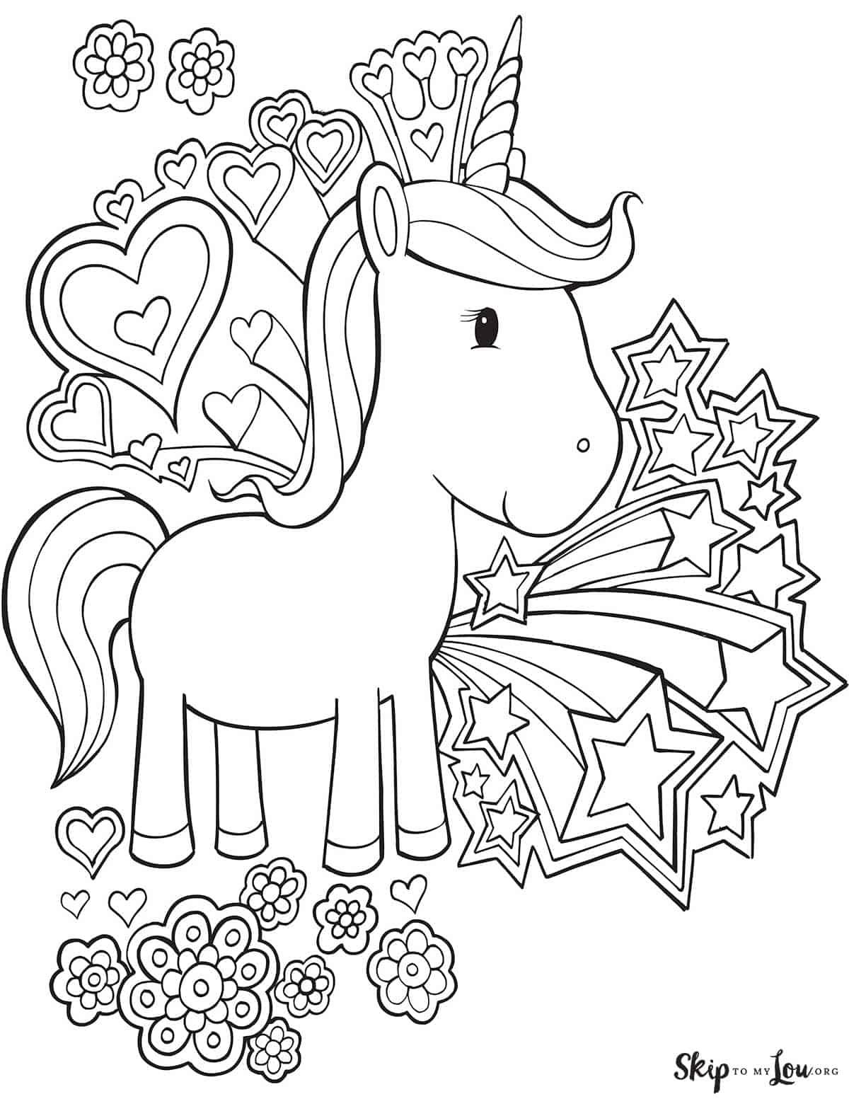unicorn wearing a crown