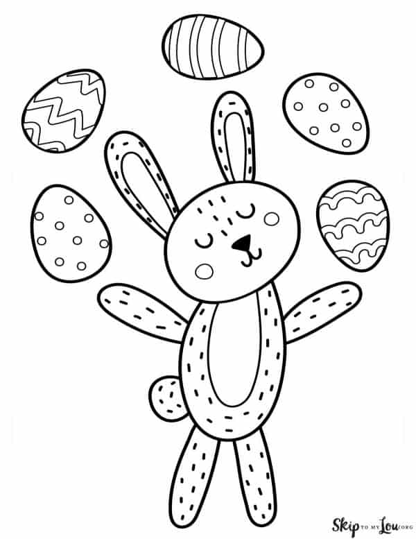 bunny juggling eggs