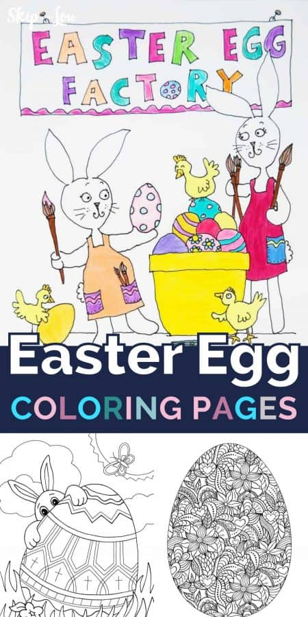 easter egg coloring pages PIN