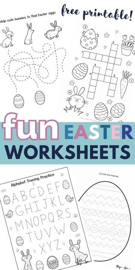 fun easter worksheets PIN