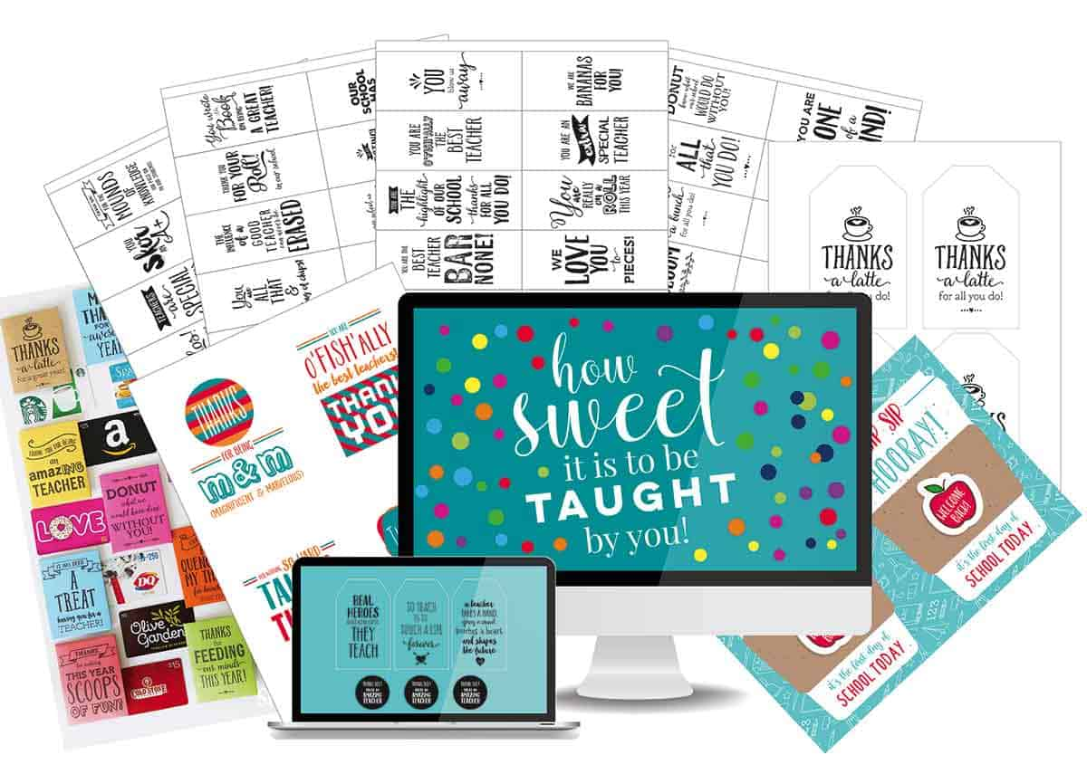 teacher printable bundle collage