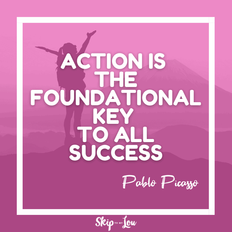 Action is the foundational key quote